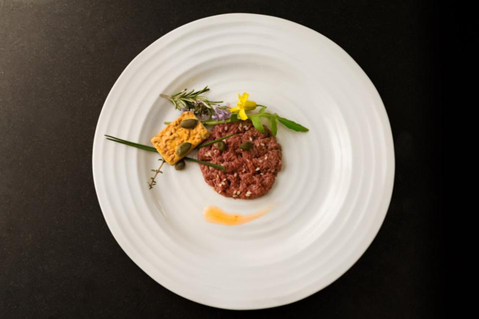 Cell-based tartar created by Mosa Meat.