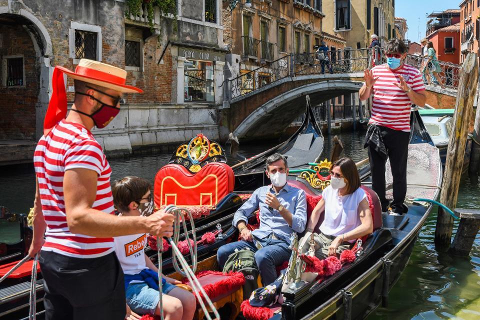Gondolas in Venice post-coronavirus