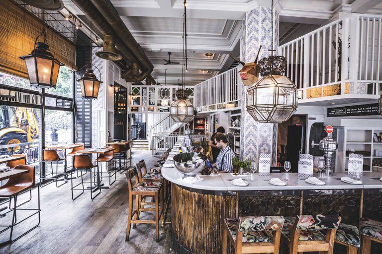 Interior del restaurante de Ibérica en el barrio de Marylebone, en Londres.