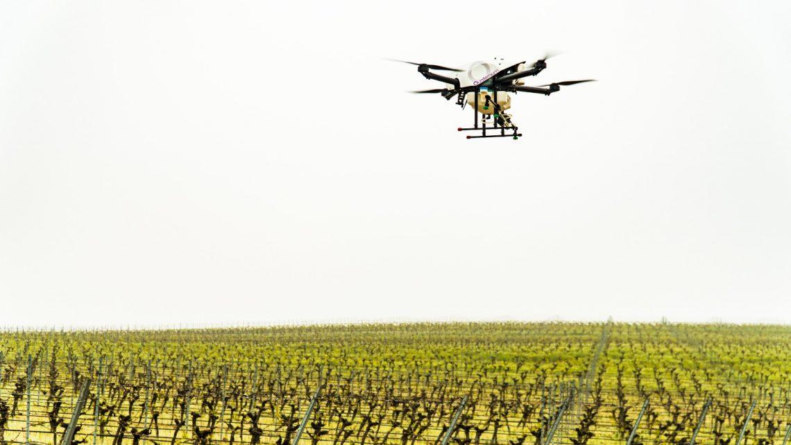 hybrid drone spraying