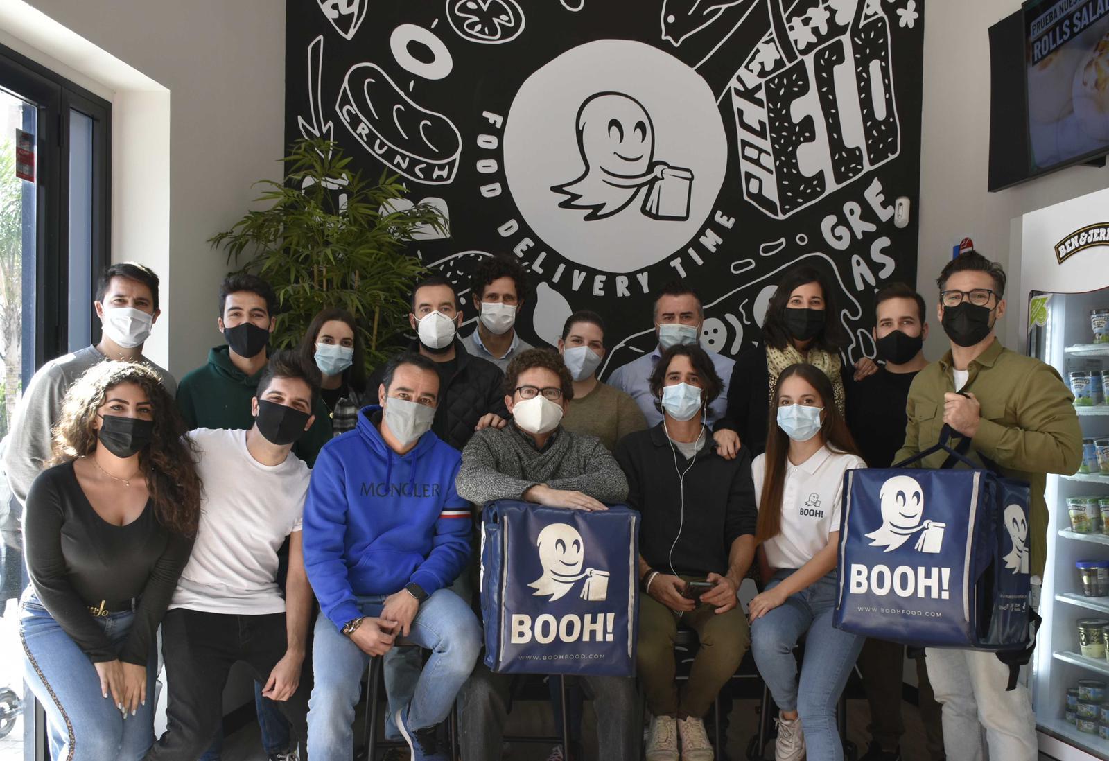 El equipo de la startup española de dark kitchens Booh!